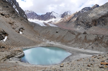 Lake on the way at 5100m