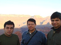 Manish, Jaideep, Siddharth from Left to right